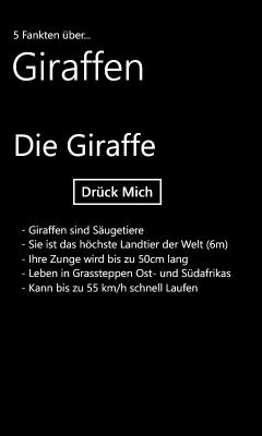 5 Fakten Giraffe
